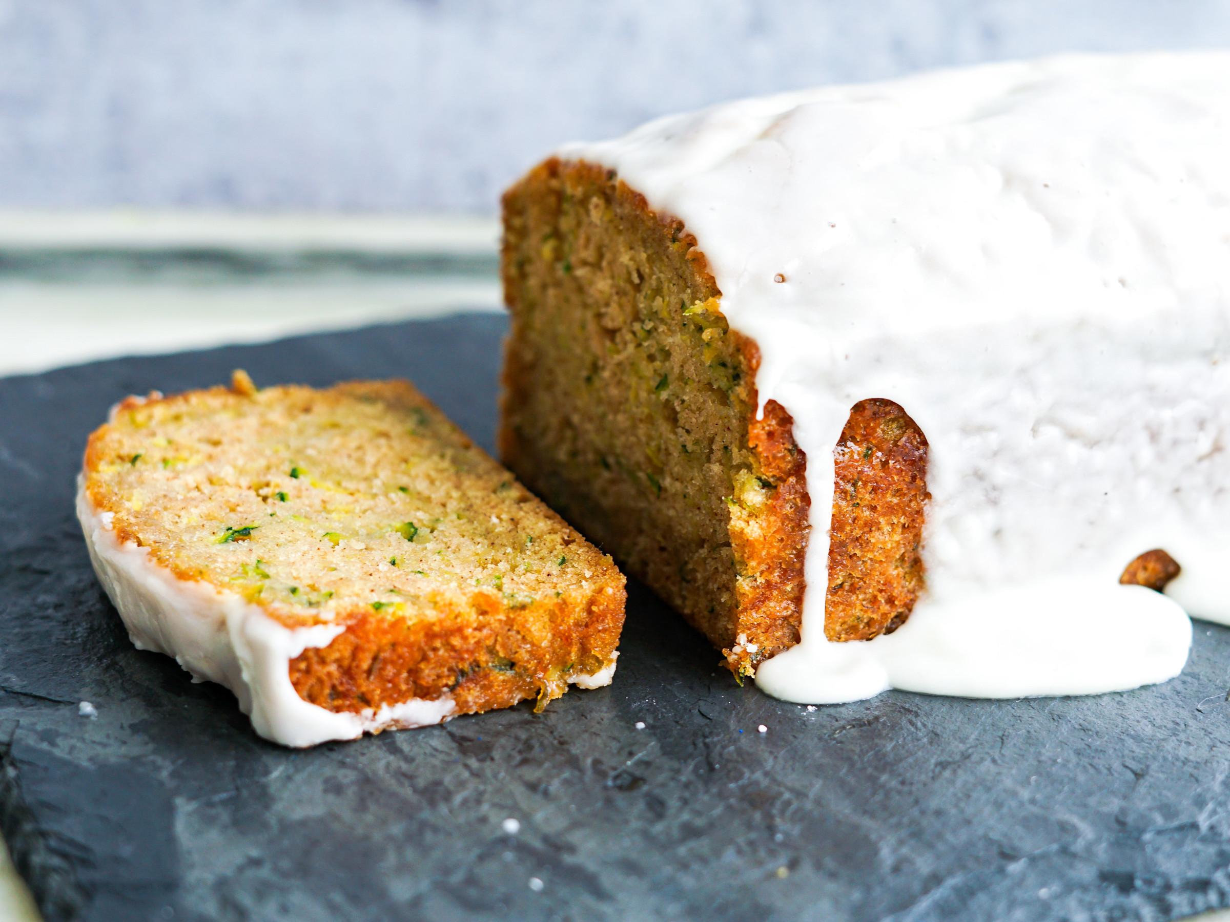 Zucchini Bread With Greek Yogurt Glaze